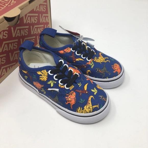 4a26e05993cf VANS Dinosaur Elastic Lace Shoes Size 7 7.5